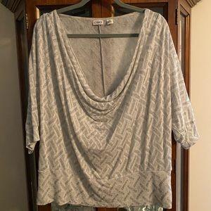 Ladies cowl neck blouse